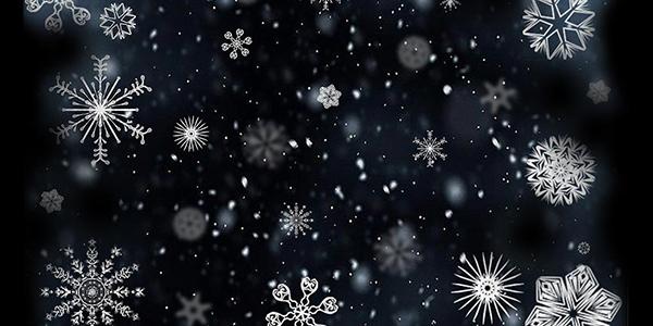 Schneefall an Weihnachten